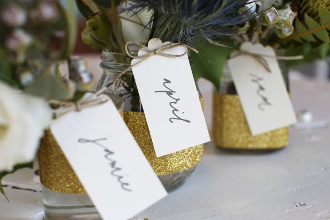 DIY : Sweet Floral Favours using Alex Mae gold glitter tape