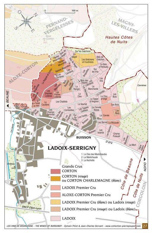 LADOIX Maps #bourgogne #pinotnoir #corton #climat