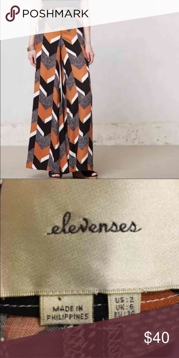 Anthropologie elevenses chevron pants trousers 2 In euc size 2.  Super cute! Anthropologie Pants Trousers