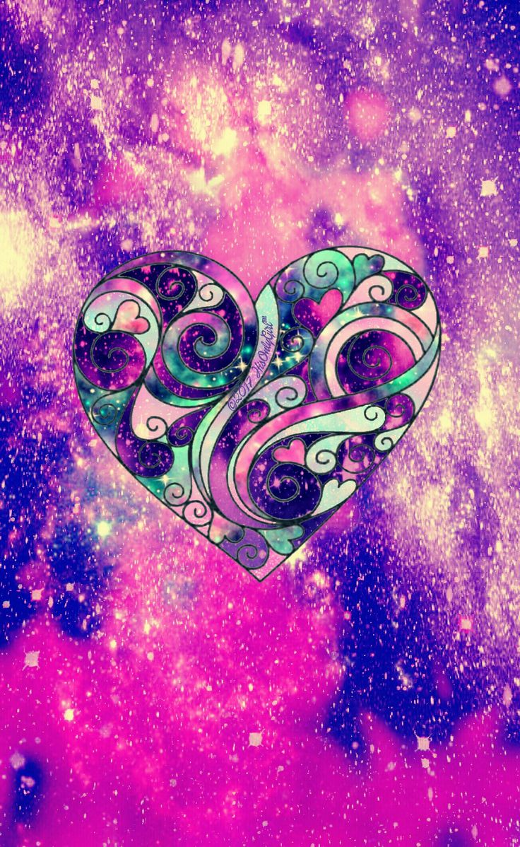 Heart attack galaxy wallpaper I created for the app CocoPPa. | Wallpaper | Galaxy wallpaper ...