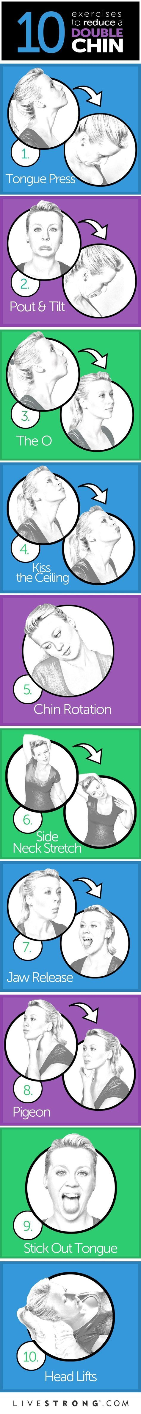 Health And Fitness: The 10 Best Exercises to Reduce a Double Chin