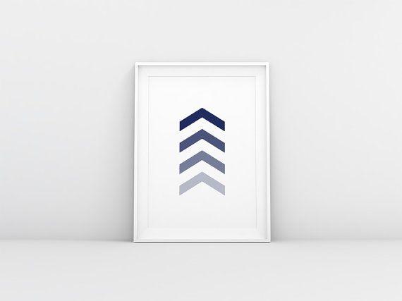 Navy Arrow Printable Chevron Arrow Printable by HomeDecorDrawing