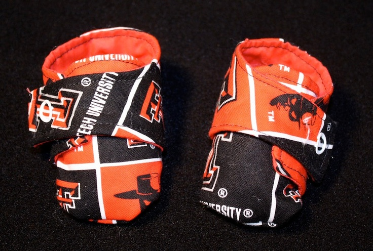 Texas Tech baby shoes with straps by solesofjoy on Etsy, $12.50