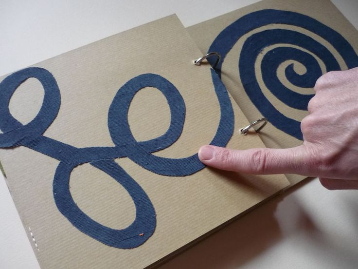 Make your own Tactile book. Visit pinterest.com/wonderbabyorg for more tactile & Sensory Fun ideas!""