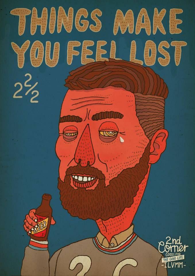 2ndCorner 2/C  Things make you feel lost - illust by CHOPONS