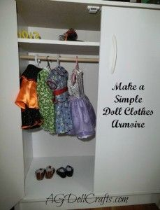 Make a Simple Doll Clothes Wardrobe