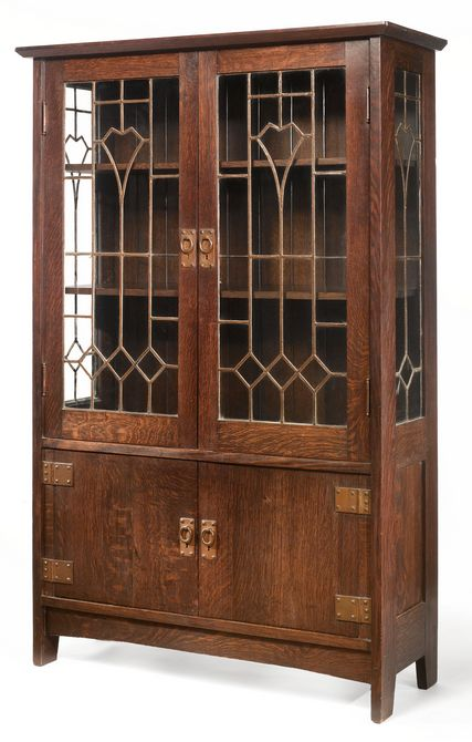 Gustav Stickley Important And Rare China Cabinet Model No