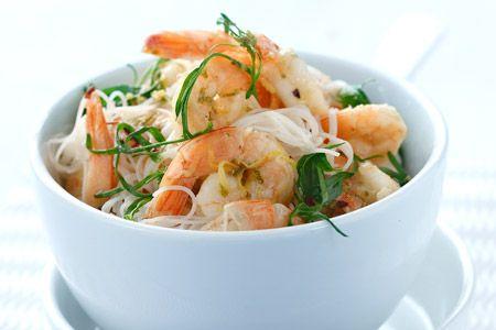 Noodles ρυζιού με γαρίδες - Συνταγές | γαστρονόμος