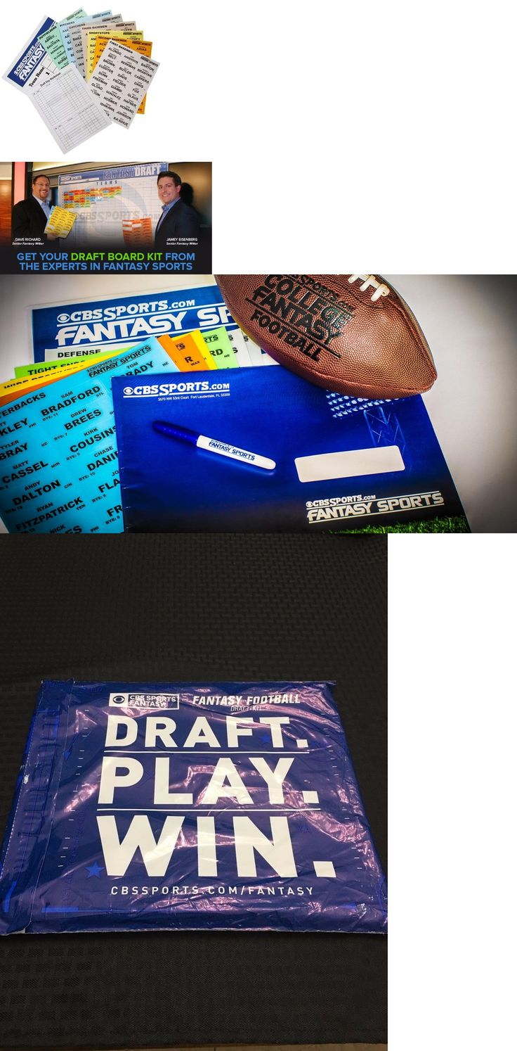 Other Football 2024: 2017 Cbs Sports Fantasy Football Draft Kit New Sealed (Free Shipping) -> BUY IT NOW ONLY: $45 on eBay!
