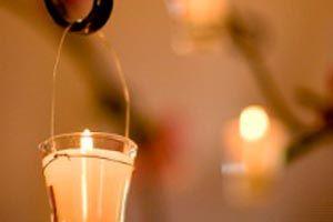 Ceremonia de las velas para la fiesta de quince.