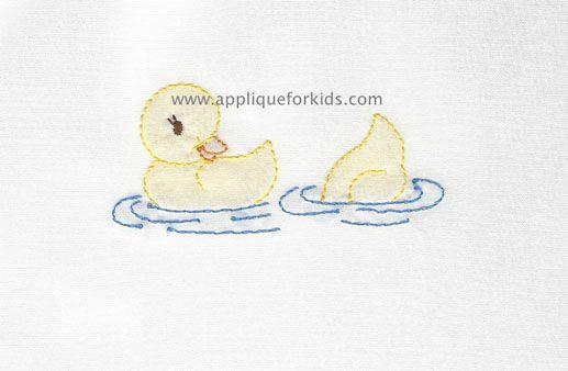 Shadow Work & Embroidery :: Nautical & Sea :: Shadow Water Ducklings