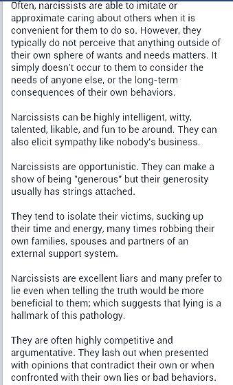3/6 Narcissistic Sociopath A Help for narcissistic sociopath relationship survivors