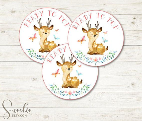Ready To PopTags Woodland Deer Whimsical Baby Shower