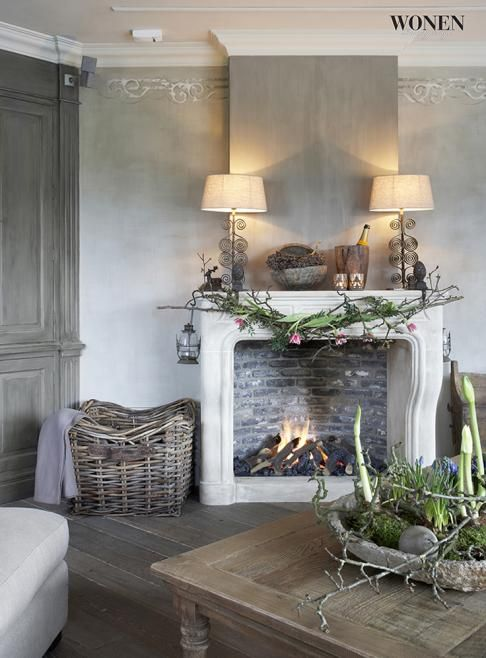 17 Best ideas about Grey Fireplace on Pinterest   Fireplace ideas, Stone fireplace makeover and