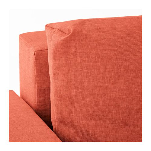 friheten sleeper sectional 3seat skiftebo dark orange ikea