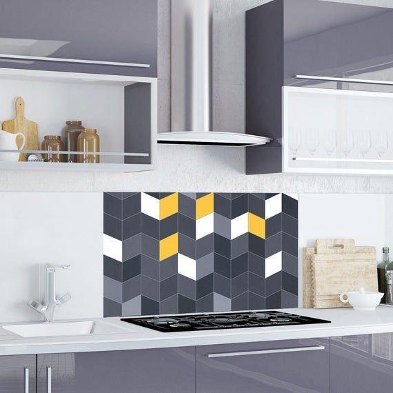 Chevron Kitchen And Bathroom Splashback Sticker Removable