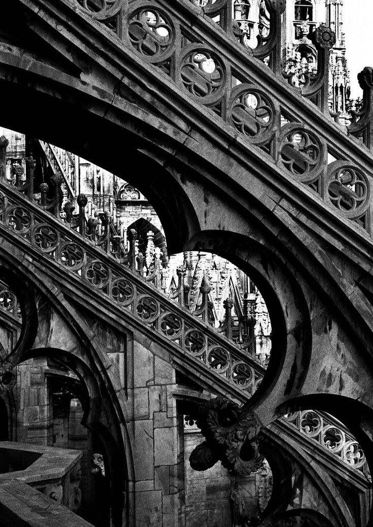 Duomo Milano 1 | From a unique collection of black and white photography at https://www.1stdibs.com/art/photography/black-white-photography/