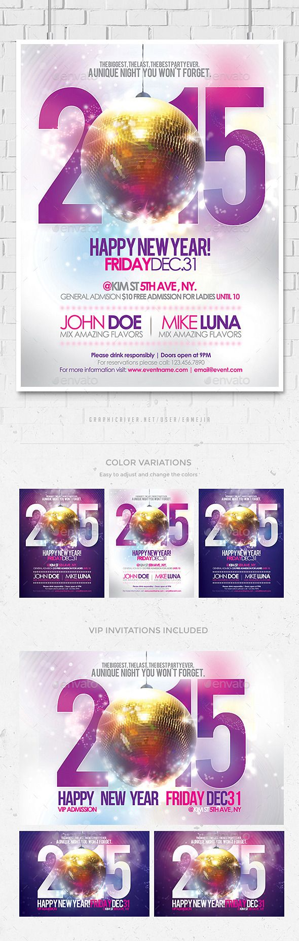 Best New Year Party Flyer Templates Images On   Party