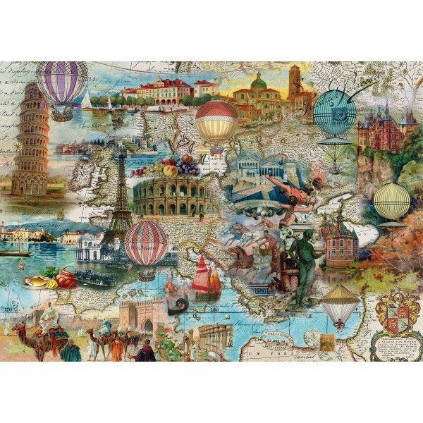 Balloon Flight Europe 1000 Piece Puzzle