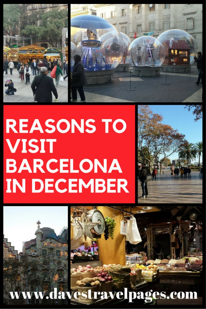 Reasons to visit Barcelona in December. If you want to see this beautiful Spanish city without the tourist crowds, December is a great month to visit!
