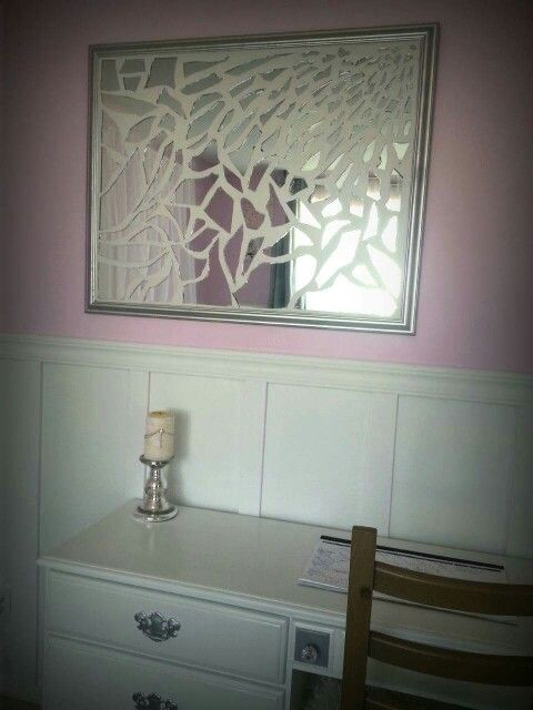Mosaic Mirror Broken Diy Silver And White Grout Picture Frame