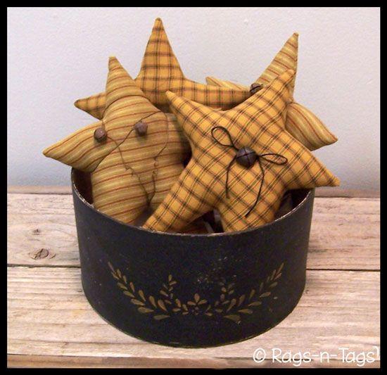 primitive country craft pattern free | Primitive Grubby Stars Craft Pattern & E-Pattern