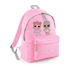 LOL Dolls JUNIOR Backpack- any dolls and name.  – Fashion