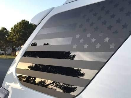Toyota 4Runner | Vorgeschnittene USA Flagge Fensteraufkleber | 2010-2019   – American Flag Window Decals – XPLORE OFFROAD®