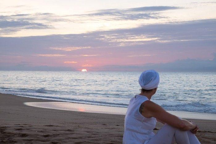 Yoga on the beach at Breath of Life Sanctuary, Sri Lanka