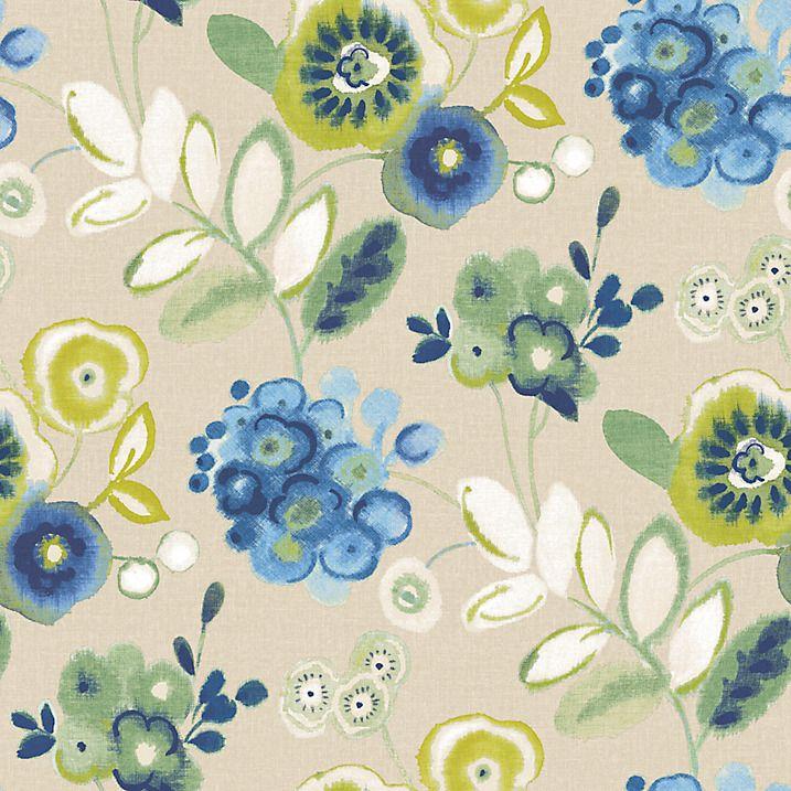 Buy John Lewis Carlotta Wallpaper, Blue Online at johnlewis.com