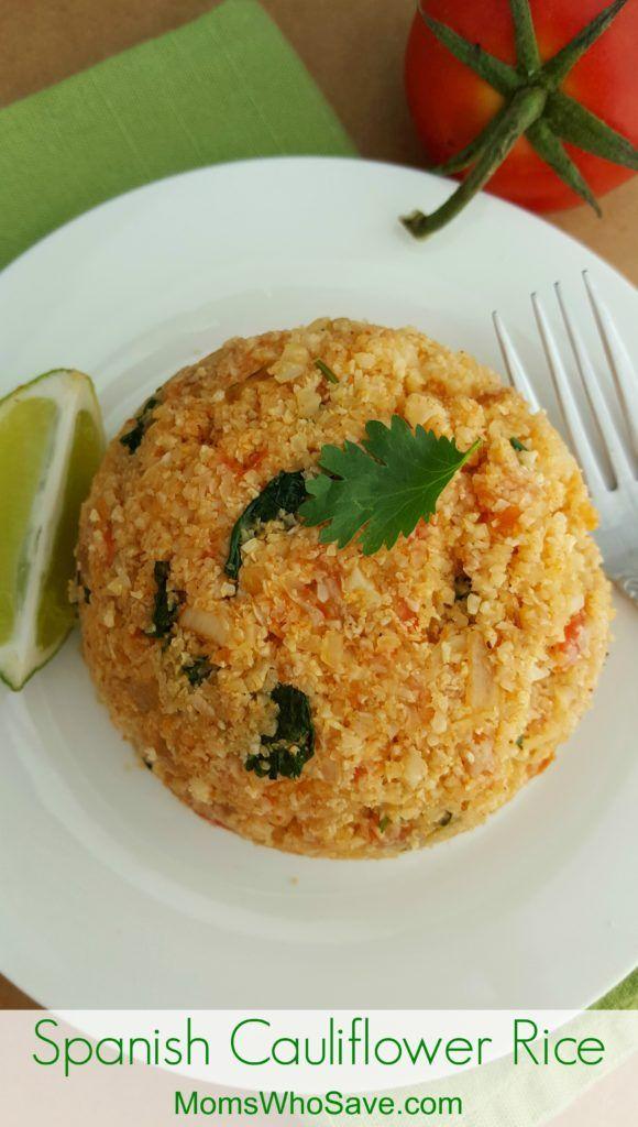 Spanish Cauliflower Rice (Gluten Free)   #glutenfree #recipes