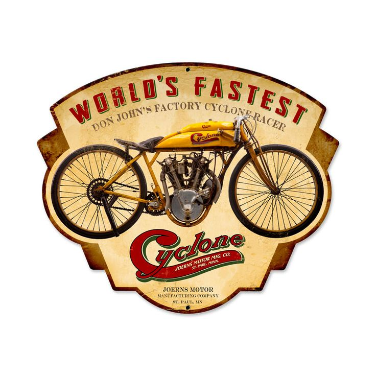 The 30 best Motorcycle Art Collectibles Signs images on Pinterest ...