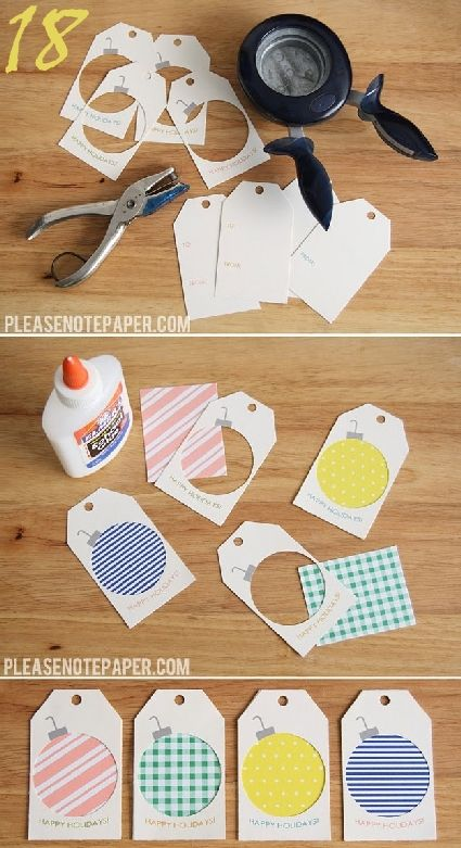 24 Gift Tag Ideas - some great ideas. Christmas is right around the corner!