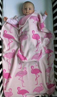 Cashmere Baby Blankets – Knitted Swaddling Blankets for Babies at ROAM #OhBaby - Flamingos! so sweet!