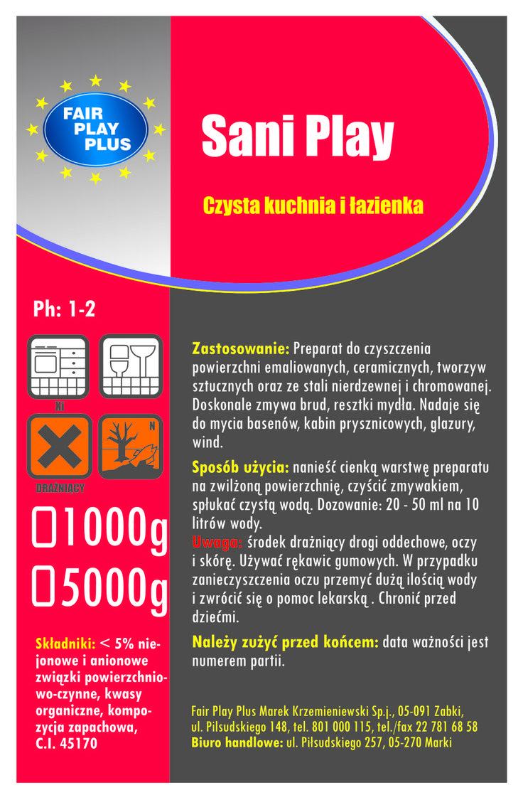 Najnowszy płyn do mycia sanitariatów , kabin prysznicowych , umywalek itp.  Odpowiedni dla firm sprzątający. www.fairplayplus.pl