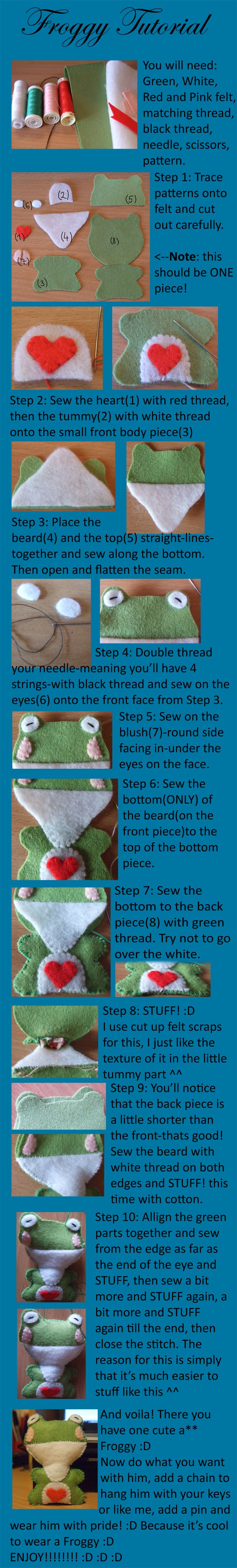 Froggy Tutorial By *pandannabelle On Deviantart I Like The Idea For The  Mouth!