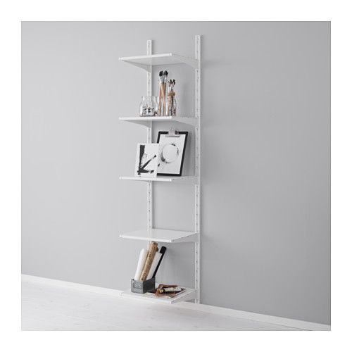 algot cr maill re tablettes blanc ikea algot cremaillere et solutions de rangement. Black Bedroom Furniture Sets. Home Design Ideas