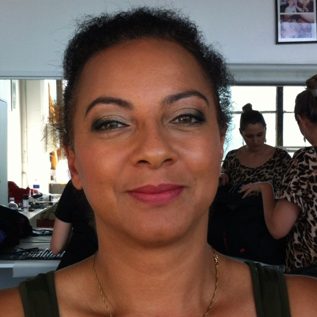 Glam night look on the lovely Michelle. I didn't have a great choice  for the lip. You live and you learn