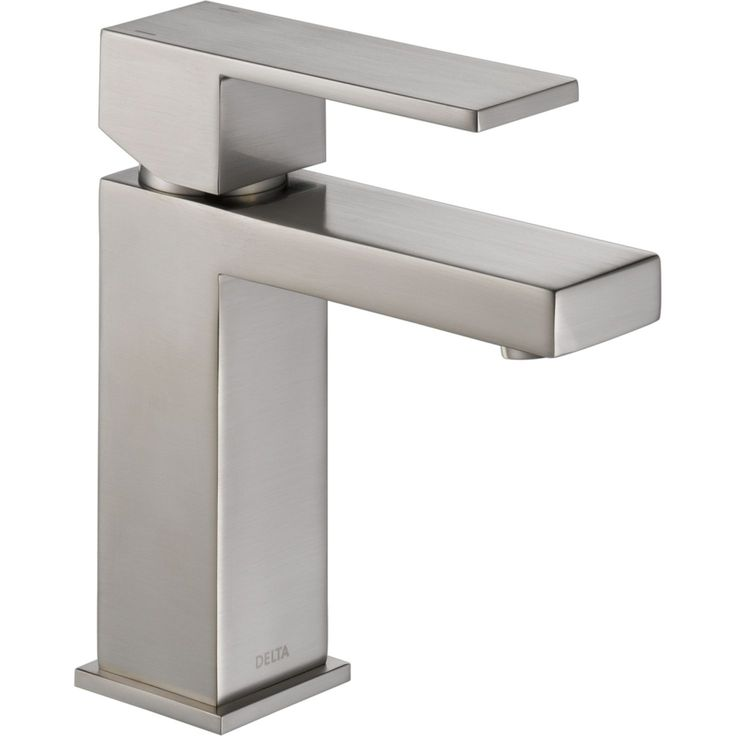 delta ara single hole bathroom faucet with popup drain assembly incl stainless faucet lavatory single handle