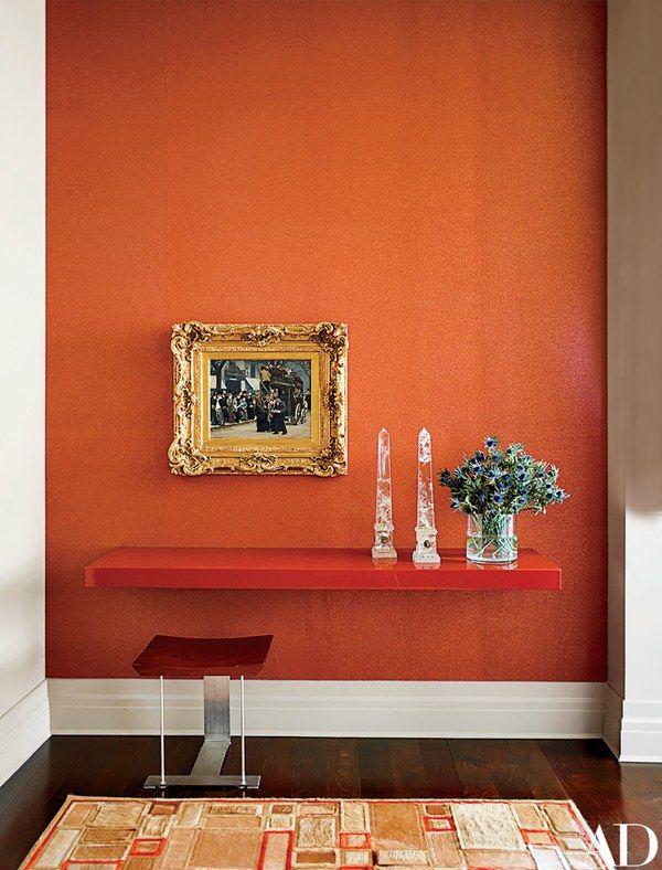 Des couleurs Feu, une étagère laquée, et en fonction des symboliques du cadre, on pourrait envisager cette décoration dans une zone Relations ou Réputation