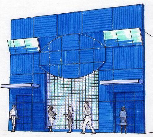 Boceto para fachada de discoteca en Montoro (Córdoba).