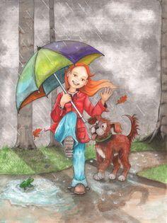 SO GLAD IT'S RAINING ~ Illustration by Birgit Boley