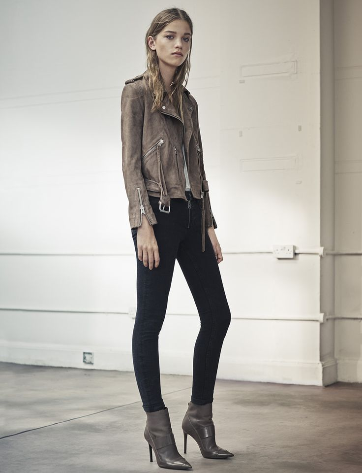 New season AllSaints styles including the Plait Balfern Biker Jacket
