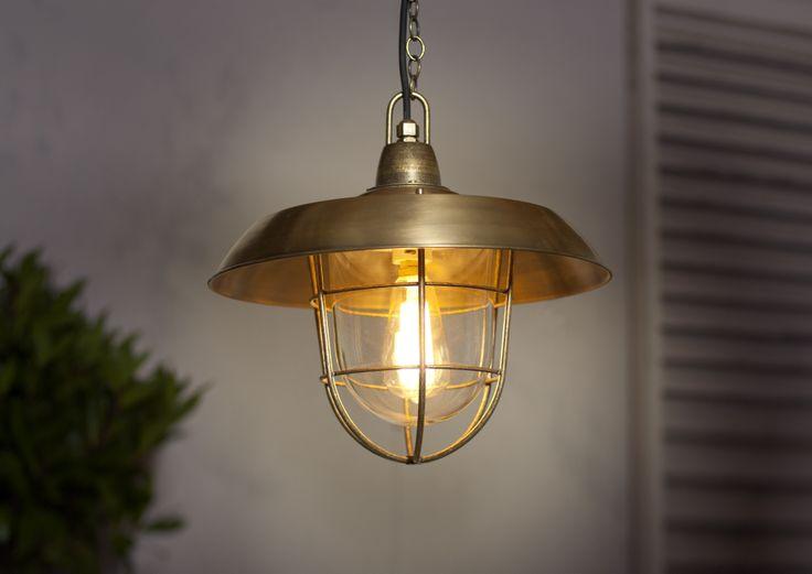 Tilbury Lantern in Antiqued Brass