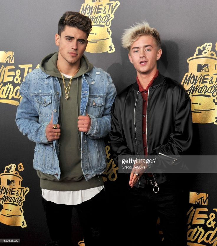 Singers Jack Gilinsky and Jack Johnson of Jack and Jack arrive at the 2017 MTV Movie And TV Awards at The Shrine Auditorium on May 7, 2017 in Los Angeles, California.