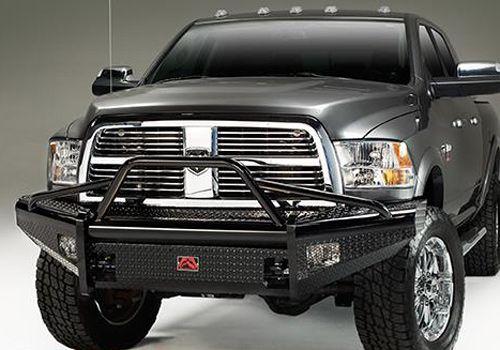 Dodge Ram Accessory  Fab Fours Dodge Ram Black Steel Front Winch