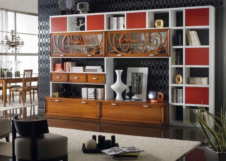 www.cordelsrl.com         #soggiorno #mobili su misura #legno
