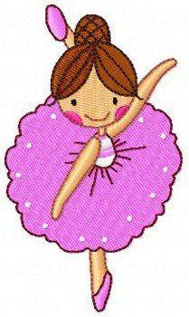 b27 coleção bordados computadorizados bailarinas princesa