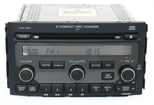 2006-2008 Honda Pilot AM FM Radio 6 Disc CD Player Face 1TV5 Part 39100-STW-A200