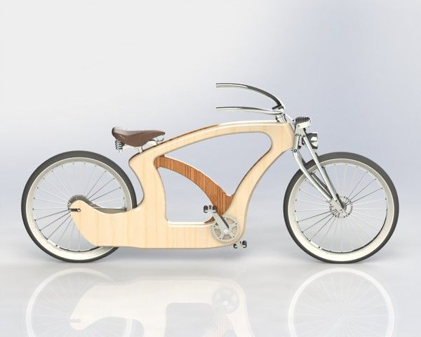 Wood Bike (work in progress) by Tiago Braz Martins, via Behance